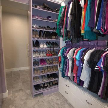 Ash Violet Master Walk-In Closet