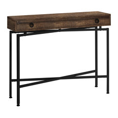 32.5-inch Particle Board Table With Black Legs Brownblack