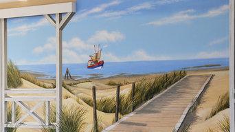 Wandmalerei / Illusionsmalerei(Trompe-L'oeil) und künstlerische Wandgestaltung