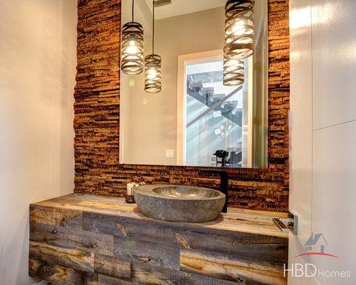 Foto e idee per bagni di servizio bagno di servizio - Bagno piastrelle marroni ...