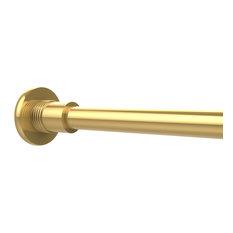 allied brass shower curtain rod brackets polished brass shower curtain rods
