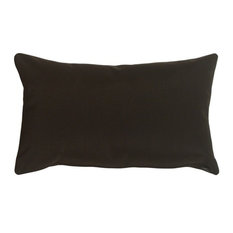 "Pillow Decor - Sunbrella Solid Color Outdoor Pillow, Black, 12"" X 20"""