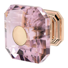 Wisdom Stone Rose Gold Drawer Knob With Crystal, Clubhouse, Antique Pink