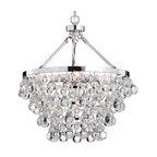 Modern Style Glass Crystal 5-Light Luxury Chandelier Chrome
