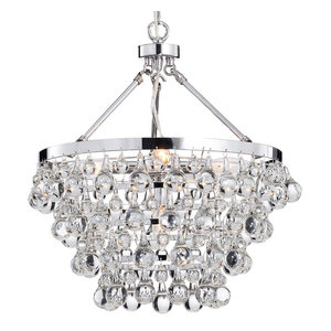 Modern Style Glass Crystal 5-Light Luxury Chandelier Chrome