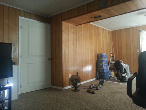 Help I Need Ideas For Dealing With This Trailer Park Wood Paneling