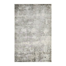Elbrus, Contemporary Abstract Loom Knotted Area Rug, Bone, 9'x'12'