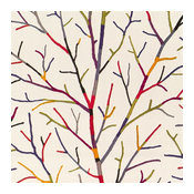 Faux Wooly Branch Wallpaper, Multicolored, Double Roll