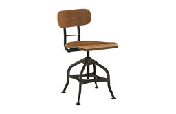 Mark Wood Dining Stool, Brown