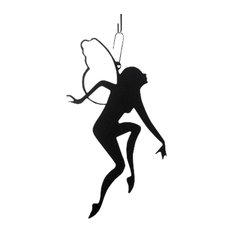 Wrought Iron Decorative Hanging Silhouette, Garden Fairy