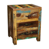 Rustic 3-Drawer Bedside Chest