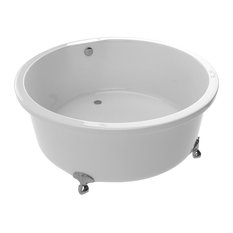ANZZI Cantor Series 4.9 ft. Acrylic Clawfoot Bathtub in White