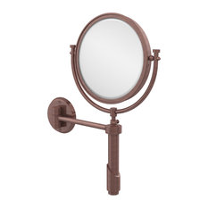 "Tribecca Collection Wall Mounted Make-Up Mirror 8""Diameter With 2X Magnification"