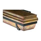 """Rustic Copper Window Box, 48"""""""