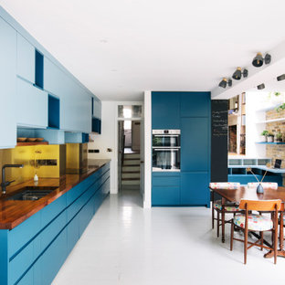 Inspiration for a contemporary kitchen in London.