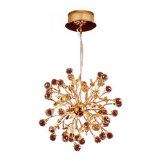 Golden Globe Crystal Chandelier