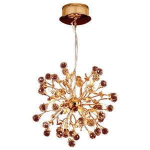 Golden Globe Crystal Chandelier