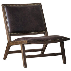 Alan Accent Chair, Dark Brown