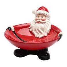 Santa Footed Candy Bowl