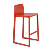 """Hanna Counter Stool, 25.5"""" Seat Height, Red"""