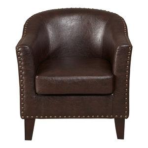 Astounding Gdf Studio Carlton Tub Design Club Chair With Nailheads Bralicious Painted Fabric Chair Ideas Braliciousco