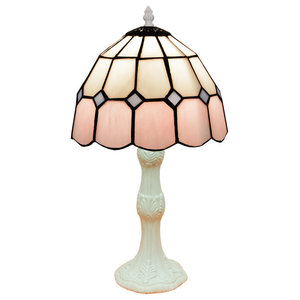 Pink Series Table Lamp, White, Small