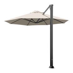 "11'6"" Oct Uno Arctic White Umbrella, Portable Base and LED Lights"
