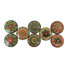 Twisted R Design - 8-Piece Set Bombay Mandala Cabinet Knobs - Cabinet and Drawer Knobs