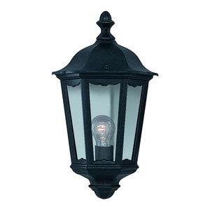 Alex Traditional Black Half Outdoor Wall Lantern IP44