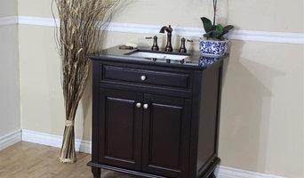 Bellaterra Home 32 inch Single Vanity in Granite Top - 603215-32DM-BG