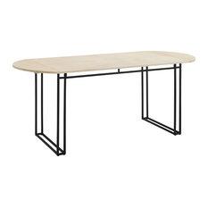 "72"" Oval Drop Leaf Dining Table, Birch"