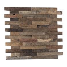 - Мозаика Artens, 30х30 см, дерево, цвет коричневый - Декор для внешних стен