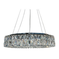 The Baker Round Clear Crystal Chandelier