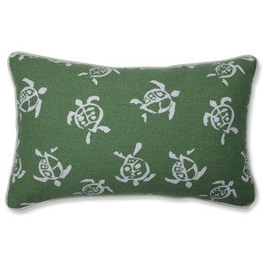 Sea Turtles Verte Rectangular Throw Pillow