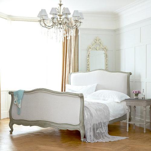 Soft Grey Raffaella Bed Panel Beds