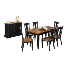 Traditional dining room sets houzz for Traditional black dining room sets