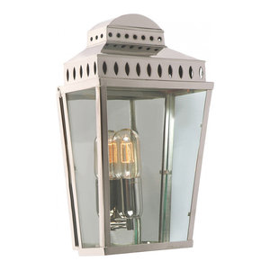 Polished Nickel Wall Lantern - 1 x 100W E27