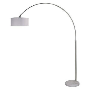 43f23d11798dd Modern 81-inch Arch Floor Lamp with White Drum Shade and Marble Base