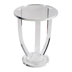 enid modern classic acrylic urn side table 22h side tables and end tables
