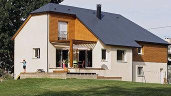 Maison individuelle bardage bois