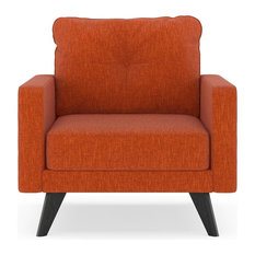 Daxton Armchair Pebble Weave, Poppy Orange