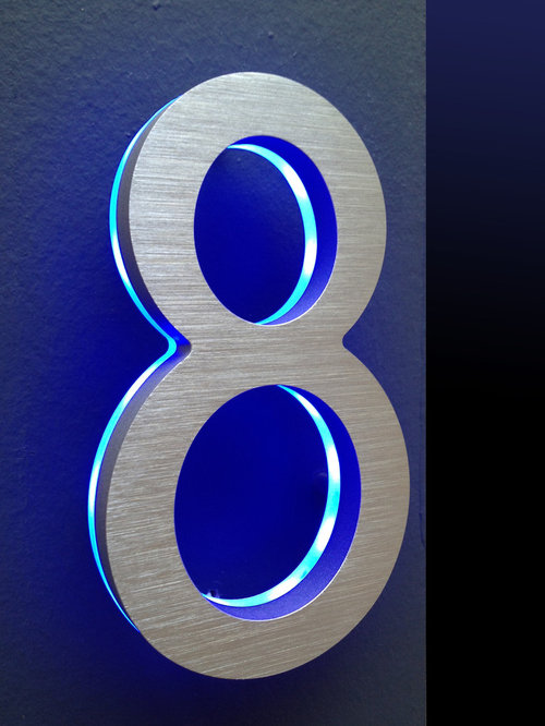 LED House Numbers Signage, Apartment Number Signs