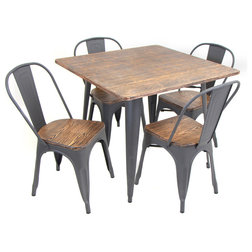 Industrial Dining Sets by GwG Outlet