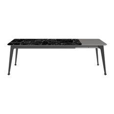 Senses Marble Dining Table, Black, Medium