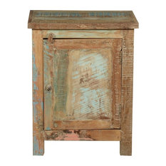 Filley Rustic Reclaimed Wood Nightstand Cabinet