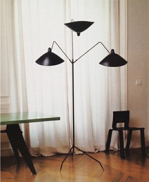 Serge mouille - Serge mouille three arm floor lamp ...