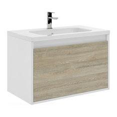 32-inch Tribeca Bathroom Vanity 32-inchx20-inchx18-inch Toasted