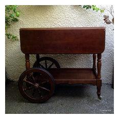 Vintage Tea Cart with Wagon Wheels