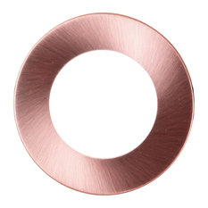 Round Aged Copper Faceplate for NICOR DLE4 Series Downlights