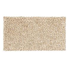 Chenille Cotton Bath Mat, Beige, 55x100 cm